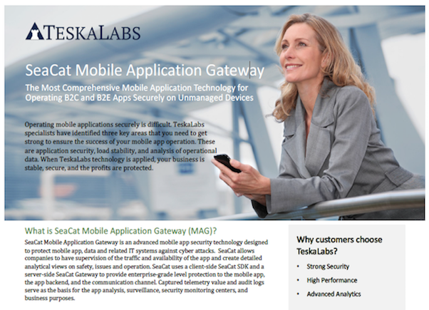 TeskaLabs resources - SeaCat Mobile Application Gateway